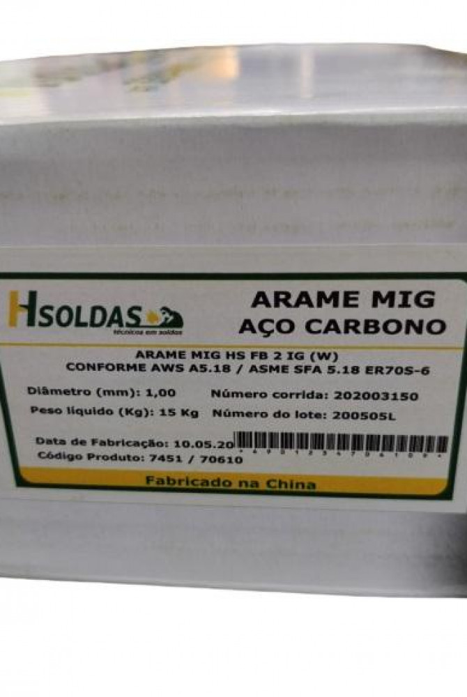 Arame MIG 1,0 mm - H SOLDAS