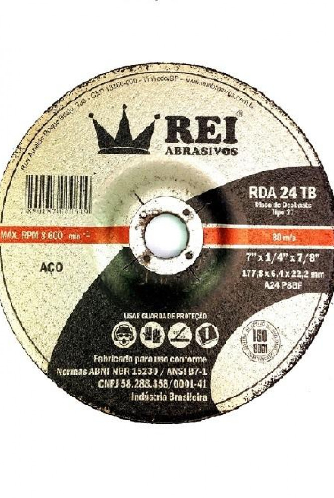 Disco de Desbaste REI RDA 24 TB 177,8 x 6,4 x 22,22